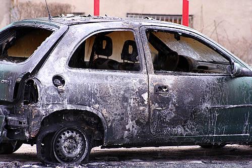 Foto: Płonące auta