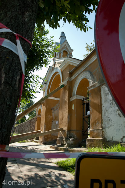 Foto: Łomża: prace budowlane zaszkodziły zabytkowej bramie