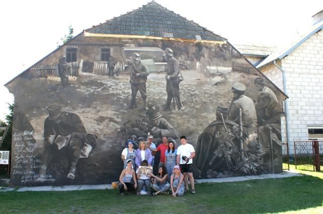 Foto: Mural w Wiźnie