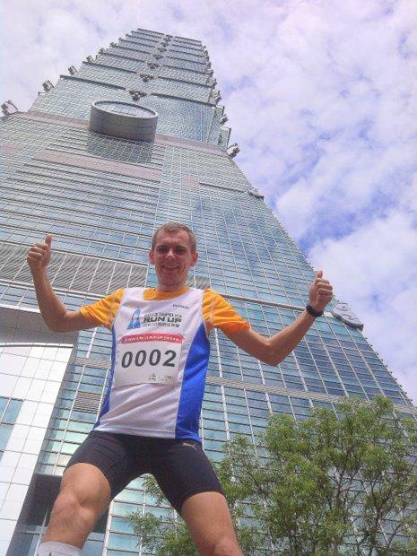 Foto: Drugi w wyścigu na wieżowiec