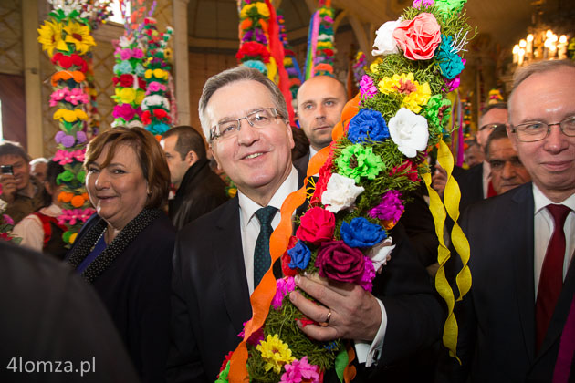 Foto: Prezydent na Niedzieli Palmowej w Łysych