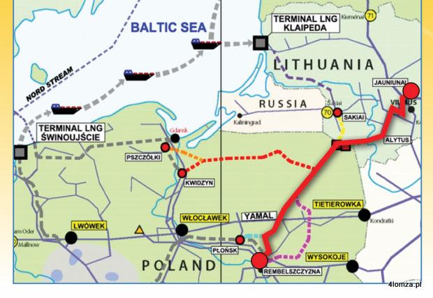 Foto: Państwa nadbałtyckie chcą szybkiej budowy gazociągu biegnącego w okolicach Łomży