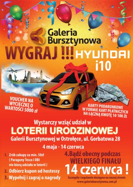 Foto: Co zrobić, żeby wygrać samochód w Loterii Urodzinowej Galerii Bursztynowej?