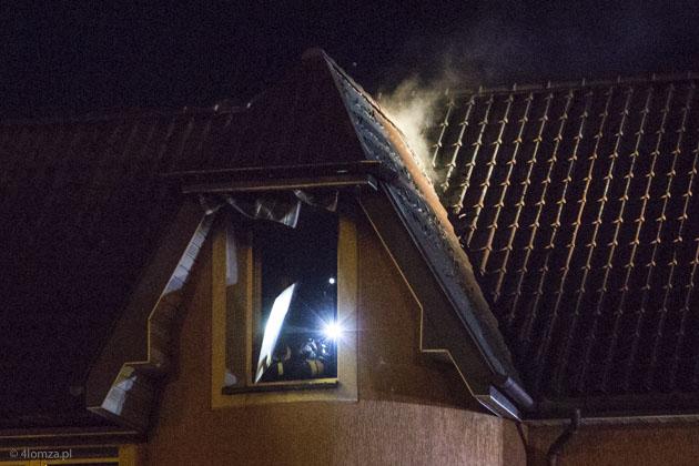 Foto: Pożar na poddaszu