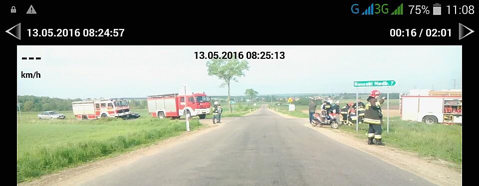 Foto: Zderzenie motoroweru i ciężarówki