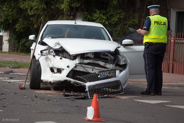 Foto: Wypadek na skrzyżowaniu w Łomży