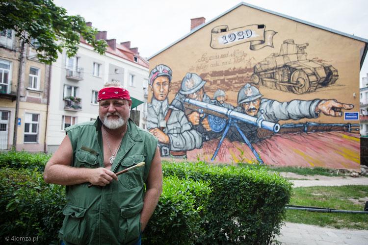 Foto: Na Rządowej Roskowiński namalował kpt. Raganowicza