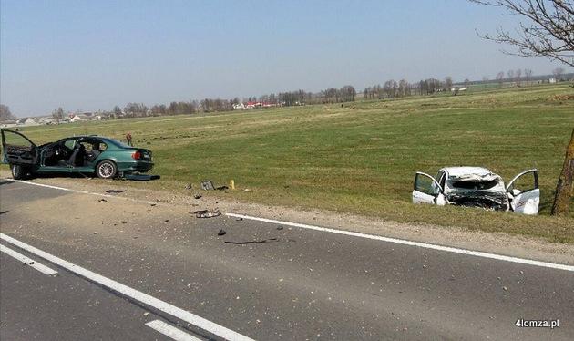 Foto: Wypadek w Borkowie  przed Kolnem