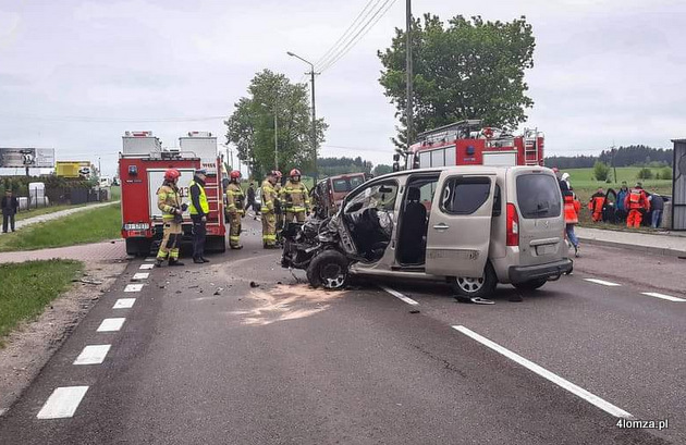 Foto: Groźny wypadek na 61