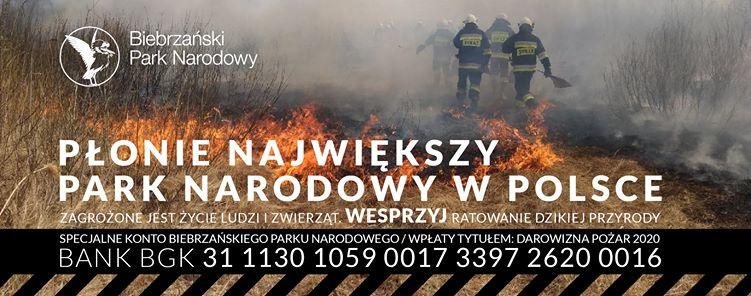 Foto: Pożar nad Biebrzą