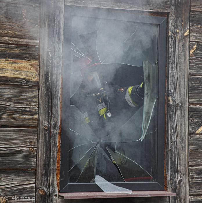 Foto: Pożar domu w Zabawce